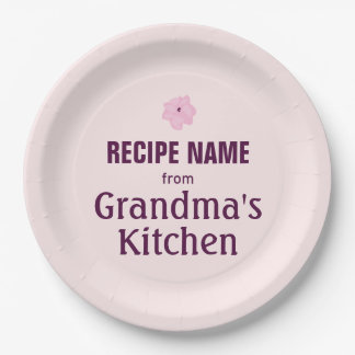 From Grandma's Kitchen 9 Inch Paper Plate