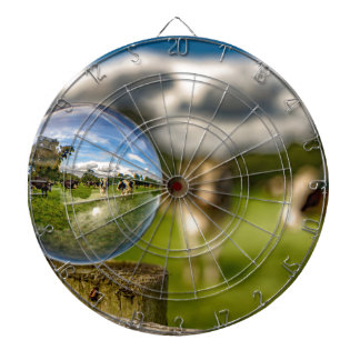 From Grass To Glass Dartboard