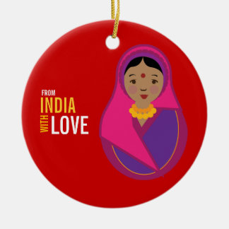 From India With Love Adoption Keepsake Christmas Ornament