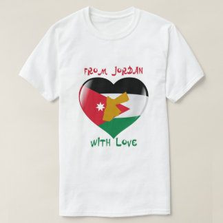 From Jordan With Love Flag T-shirt