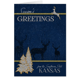 from Kansas The Sunflower State Christmas Card