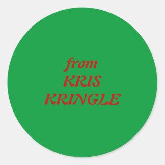 from KRIS KRINGLE Classic Round Sticker