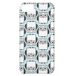 From Lucy: COOL GEEKY OWL PATTERN | aqua blue iPhone 5C Case