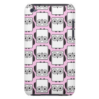 From Lucy: COOL GEEKY OWL PATTERN   pink Barely There iPod Covers