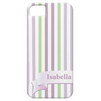 From Lucy: STRIPES LILAC & GREEN | Personalized iPhone 5 Cover
