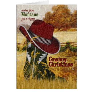 from Montana Cowboy Christmas Western Boot Card