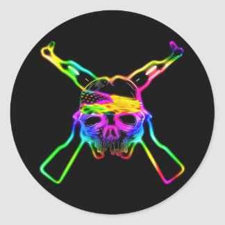 From My Cold Dead Fingers Neon Round Sticker