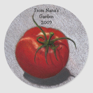 FROM NANA'S GARDEN: STICKERS: TOMATO CLASSIC ROUND STICKER