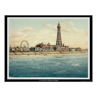 From North Pier, Blackpool, England Poster