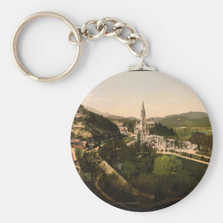 From Notre Dame de Lourdes, Lourdes, Pyrenees, Fra Basic Round Button Key Ring