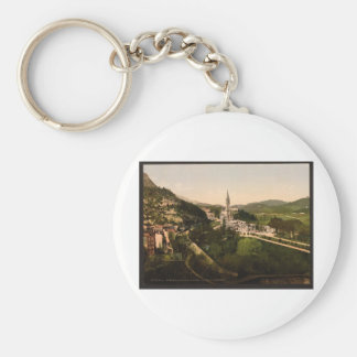From Notre Dame de Lourdes, Lourdes, Pyrenees, Fra Basic Round Button Key Ring