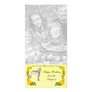 From One Irish Wolfhound Friend to Another Photo Greeting Card