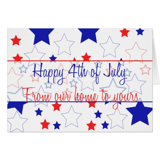 From our home .. Happy 4th of July Card