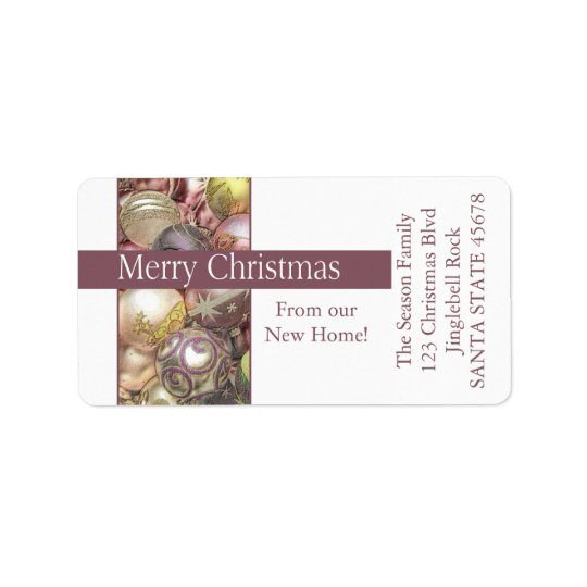 From our new Home pastel ornaments Label