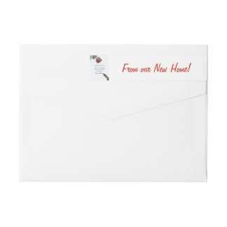 From our new Home Snow rose and pen Wraparound Return Address Label