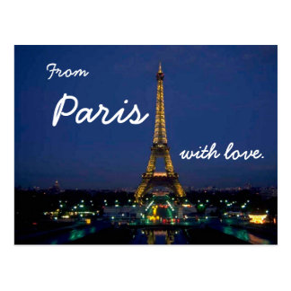 From Paris with love - travel postcard