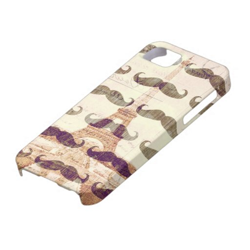 From Paris with mustache iPhone 5 Case