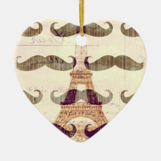 From Paris with mustache Christmas Ornament
