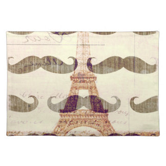 From Paris with mustache Placemats