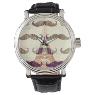 From Paris with mustache Watch