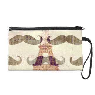 From Paris with mustache Wristlet