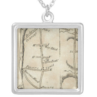From Philadelphia to Annapolis Maryld 52 Silver Plated Necklace