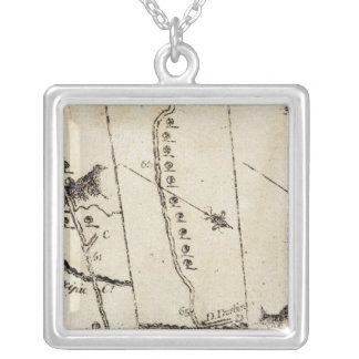 From Philadelphia to Annapolis Md 56 Silver Plated Necklace