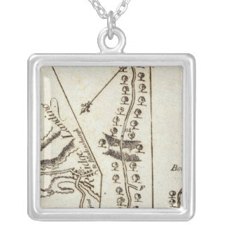 From Philadelphia to Annapolis Md 60 Silver Plated Necklace