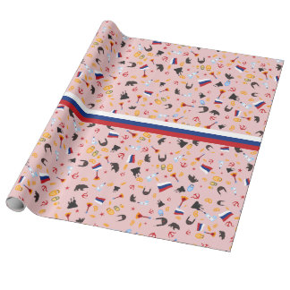 From Russia With Love- Russian flag Wrapping Paper