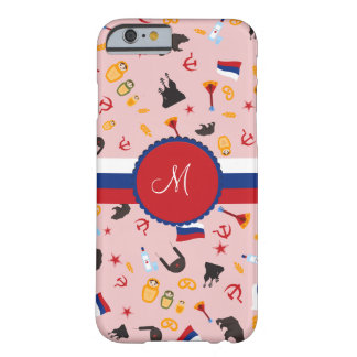 From Russia With Love- Russian Monogram Barely There iPhone 6 Case