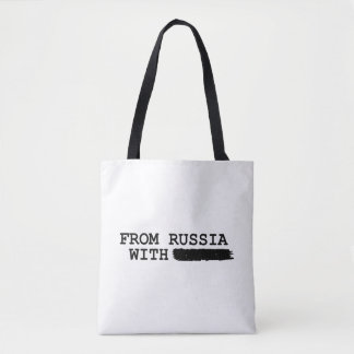 from russia with------- tote bag