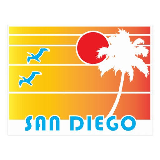 From San Diego California - Vintage Style Post Card