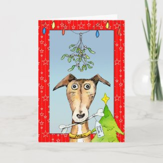 From Santa - Greyhound Christmas card (a513) title=
