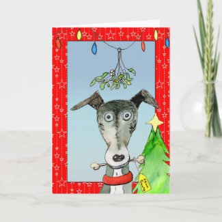 From Santa - Greyhound Christmas card (a514) title=
