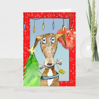 From Santa - Greyhound Christmas card (a515) title=