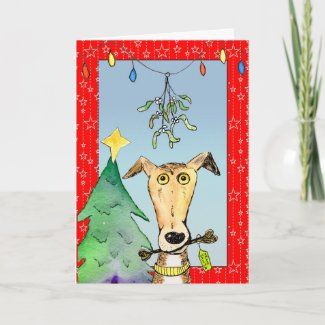 From Santa - Greyhound Christmas card (a516) title=