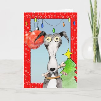 From Santa - Greyhound Christmas card (a518) title=