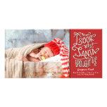 From Santa New Baby Christmas Holiday Photo Card