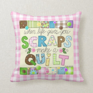 """""""From Scraps to Quilt"""" Pillow"""