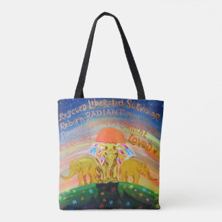 From slavery to FREEDOM cross body tote bag