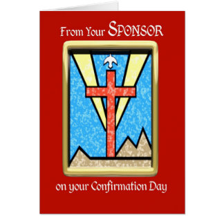 From Sponsor at Confirmation Greeting Card