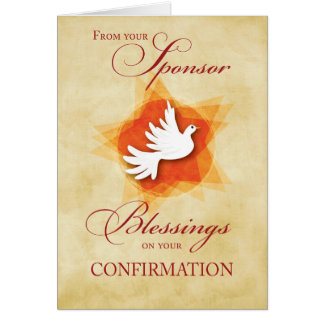 From Sponsor, Confirmation Congratulations Dove Greeting Card