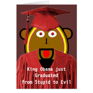 From Stupid to Evil - Obamacare in Washington Greeting Card
