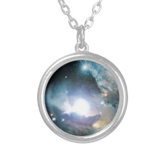 From the Ashes of the First Stars Round Pendant Necklace