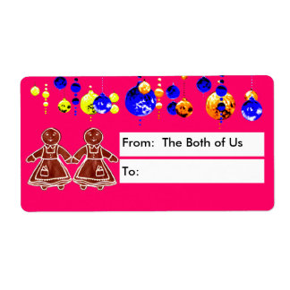 From The Both of Us Girls Shipping Label