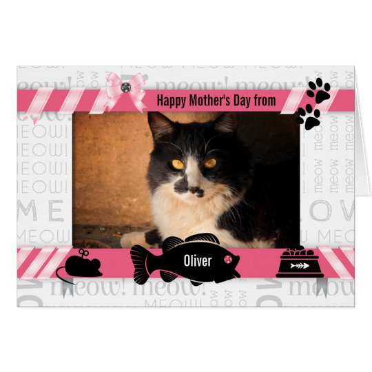 from the Cat Pink Meow Mother's Day from the Cat Card