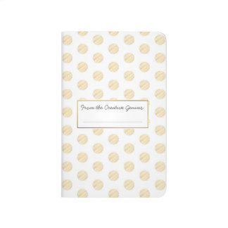 From the Creative Genius Gold Polka Dot Notebook