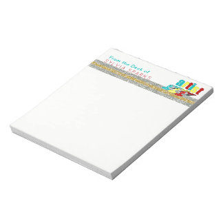 From the Desk of Artist Cute Personalized Notepad