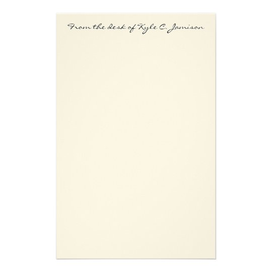 From the desk of Kyle C. Jamison Stationery