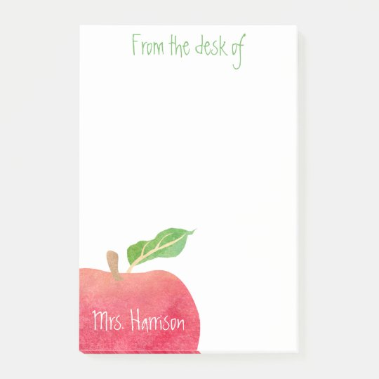 From the Desk of Teacher Red Apple Personalised
